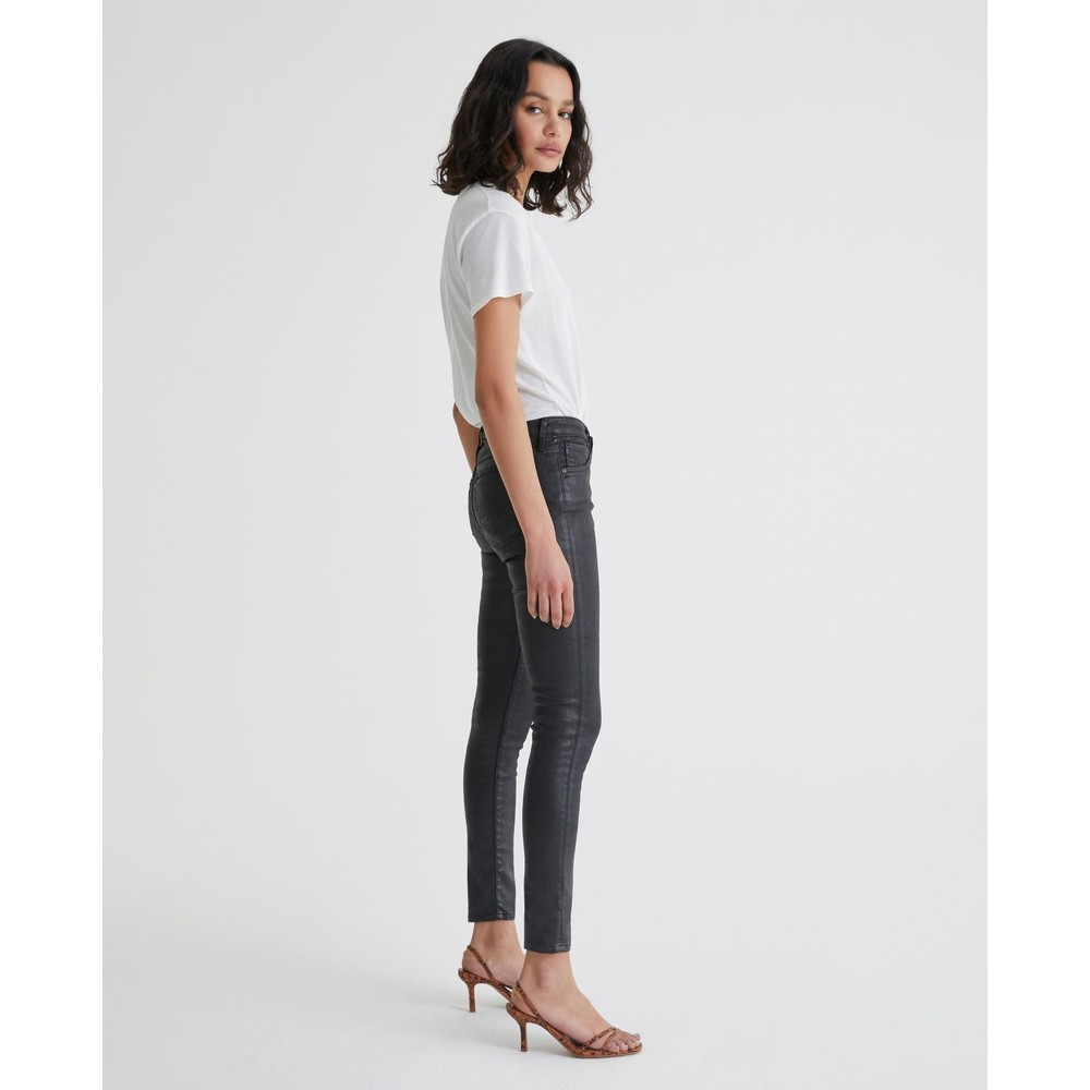 AG Jeans Legging Ankle in Leatherette Black Black