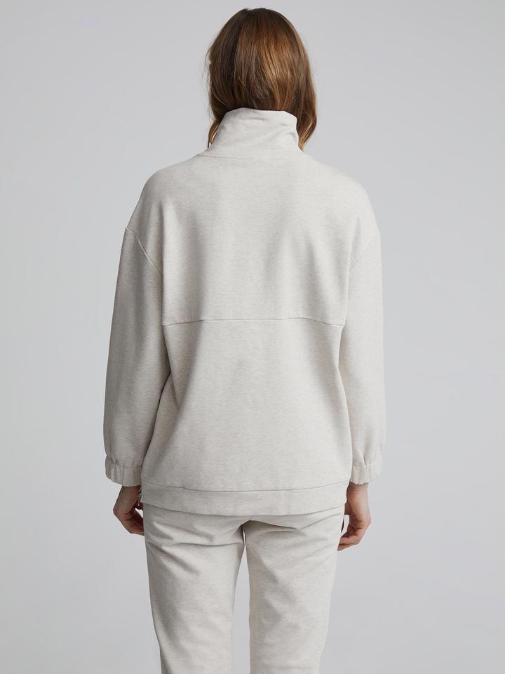Varley Warwick Sweatshirt in Ivory Marl Cream