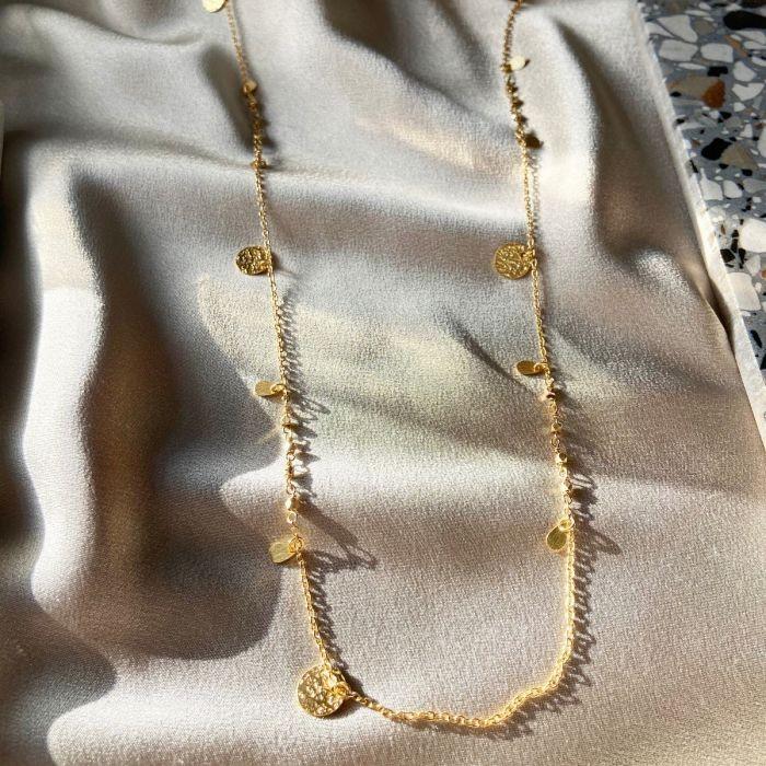 Ashiana Athens Gold Coin Necklace Gold