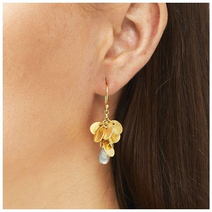 Ashiana Winona Earrings in Labradorite Grey