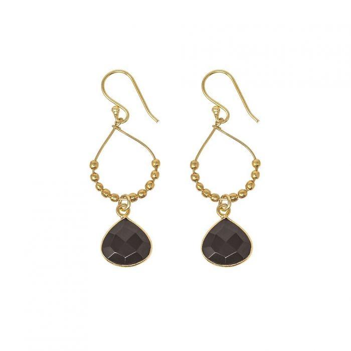 Ashiana Bay Reef Earrings in Black Onyx Black