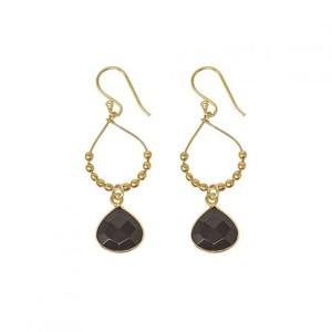 Ashiana Bay Reef Earrings in Black Onyx