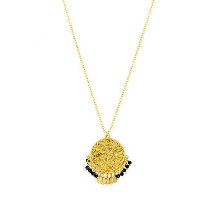 Ashiana Ines Necklace in Black Gold