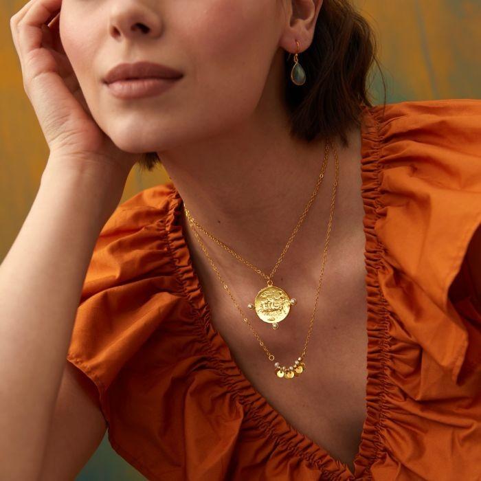 Ashiana Apollo Necklace in Pearl White