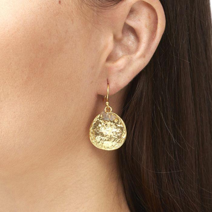 Ashiana Solange Earrings in Labradorite Grey