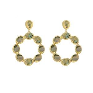Ashiana Wanda Hoop Earrings in Labradorite