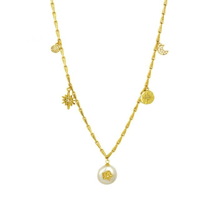 Ashiana Blance Necklace Gold