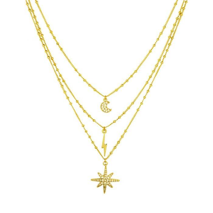 Ashiana Midnight Necklace Gold