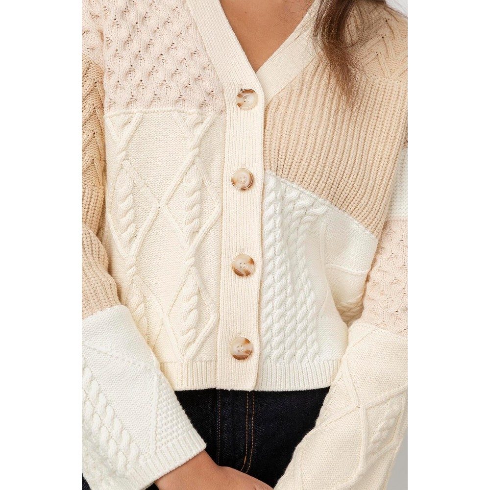 Rails Reese Patchwork Cable Cream