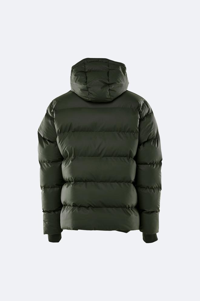 Rains Puffer Jacket in Green Green