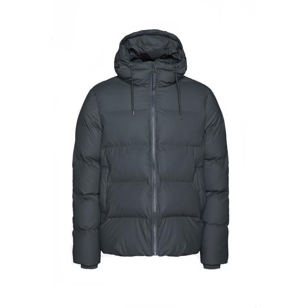 Rains Puffer Jacket in Black Black