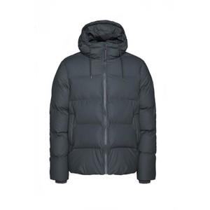 Rains Puffer Jacket in Green in Black
