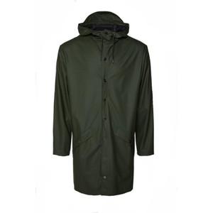Rains Long Jacket in Green
