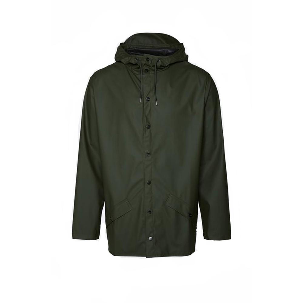 Rains Jacket in Green Green