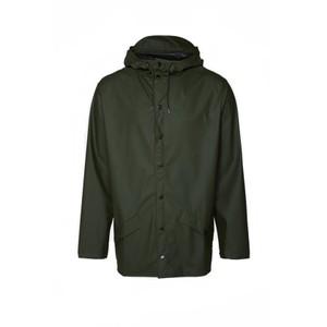 Rains Jacket in Blue in Green