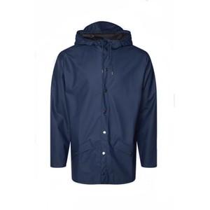 Rains Jacket in Green in Navy