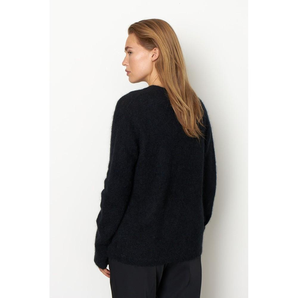 Second Female Brook Knit Cardigan Black