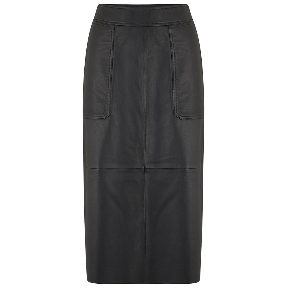 Second Female Francie Leather Skirt Black
