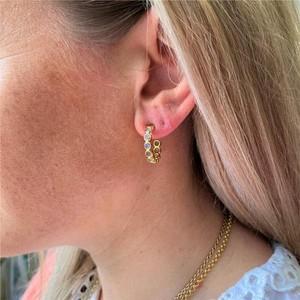 Auree Ortigia Half Hoop Earrings in Moonstone