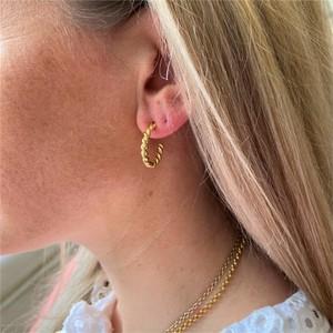 Auree Alhambra Piccolo Twisted Hoop Earrings