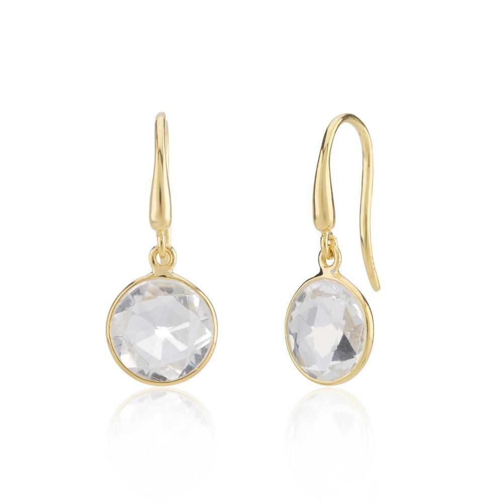 Auree Antibes Crystal Earrings Gold