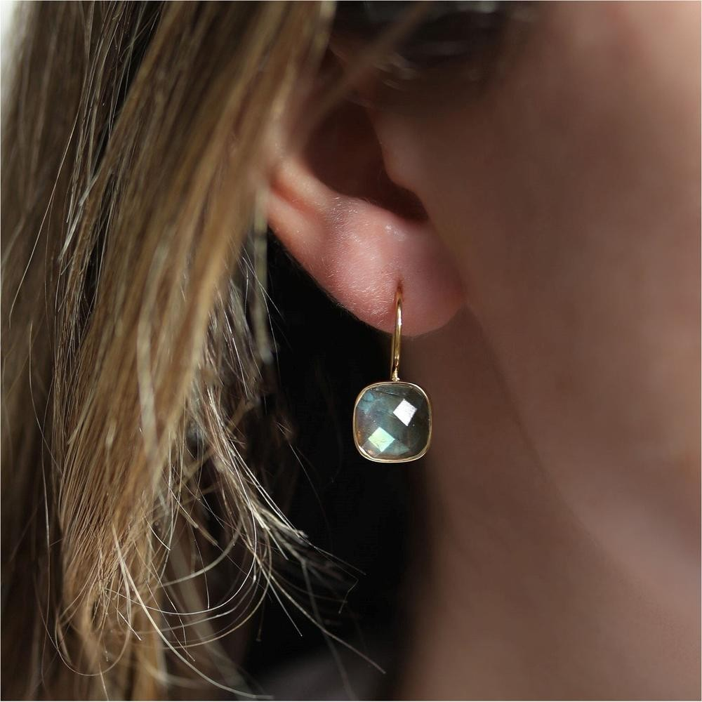 Auree Mondello Gold Earrings Black