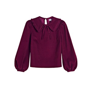 Pink City Prints Apple Blouse in Raspberry Cord