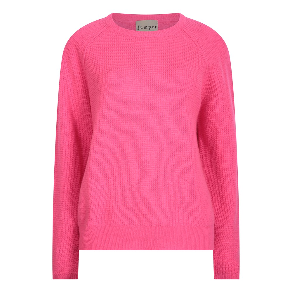 Jumper 1234 Waffle Sweater in Pink Pink