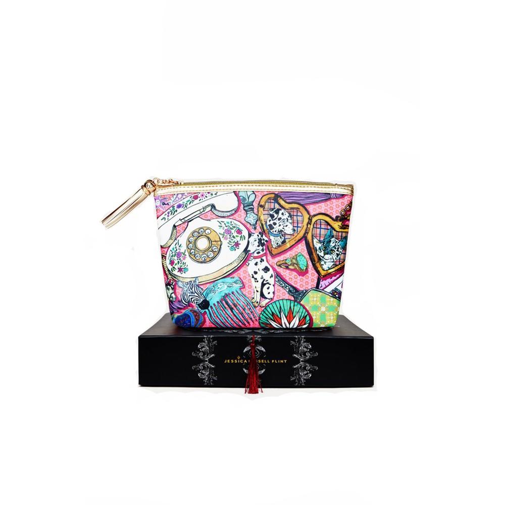 Jessica Russell Flint Classic Make Up Bag in Bouji Boudoir Multicoloured