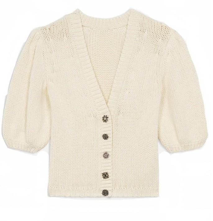 Ba&sh Castille Sweater in Ecru Cream