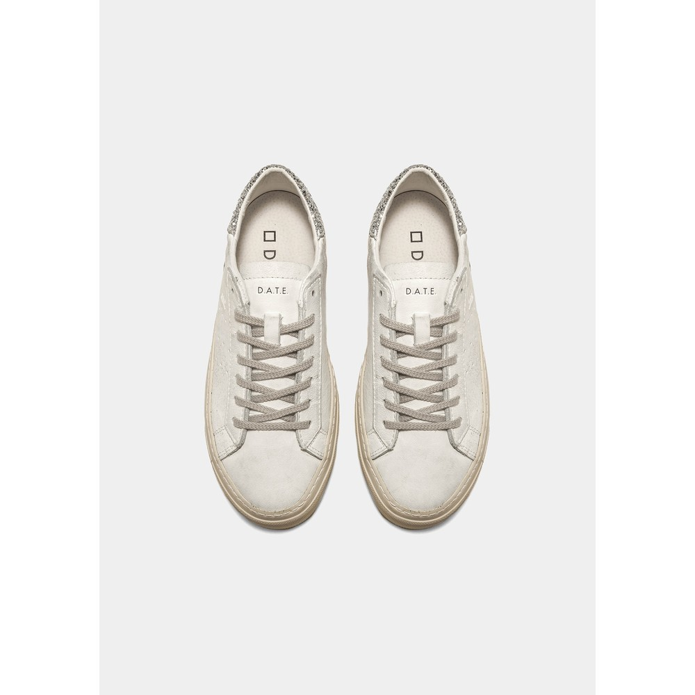 Date Sonica Vintage Calf Trainers White