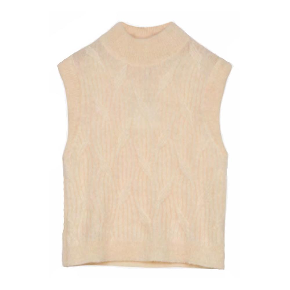 Maison Anje Le Park Sleeveless Knitted Vest Cream