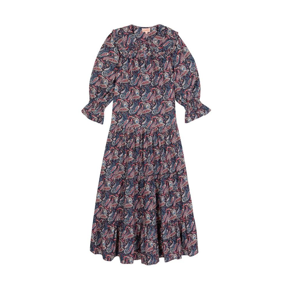 Seraphina The Ruffle Collar Dress Multicoloured