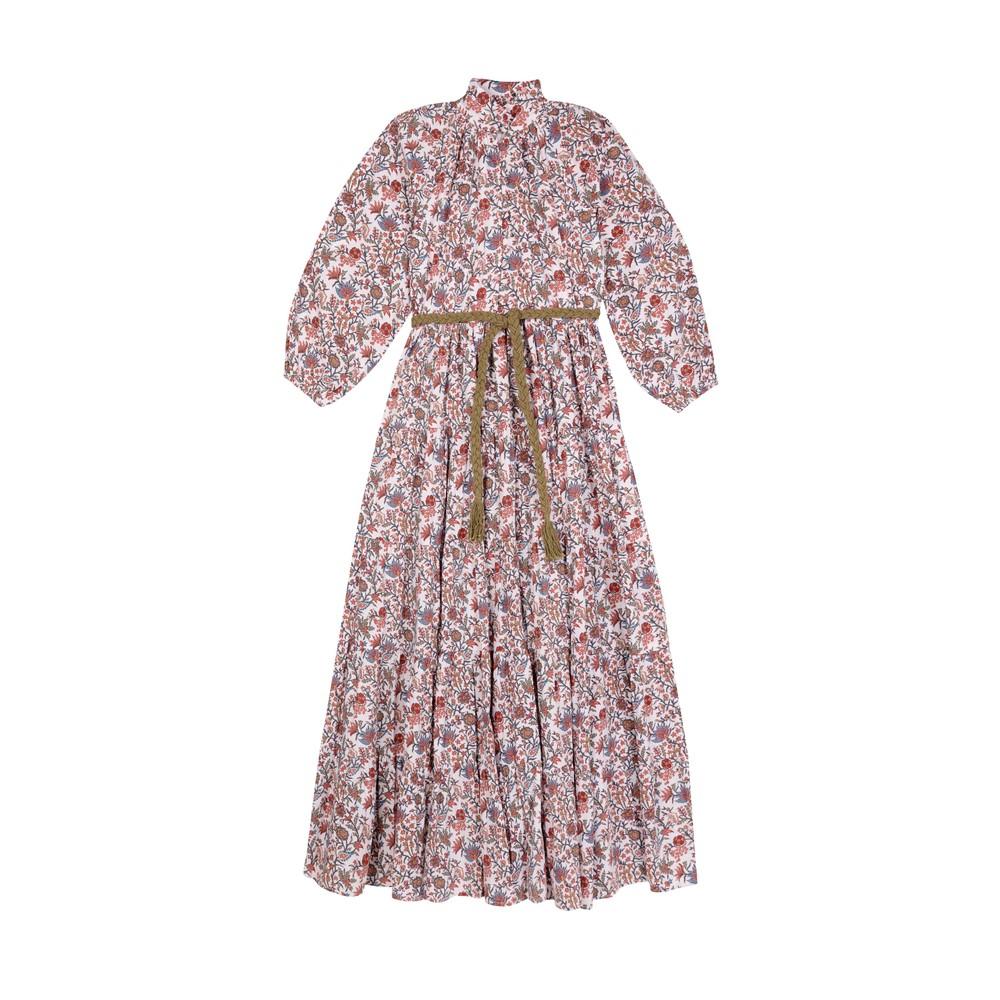 Seraphina The Autumn Nehru Collar Dress Multicoloured