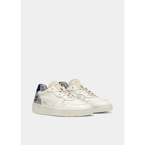 Date Court Leather Trainers in Bluette