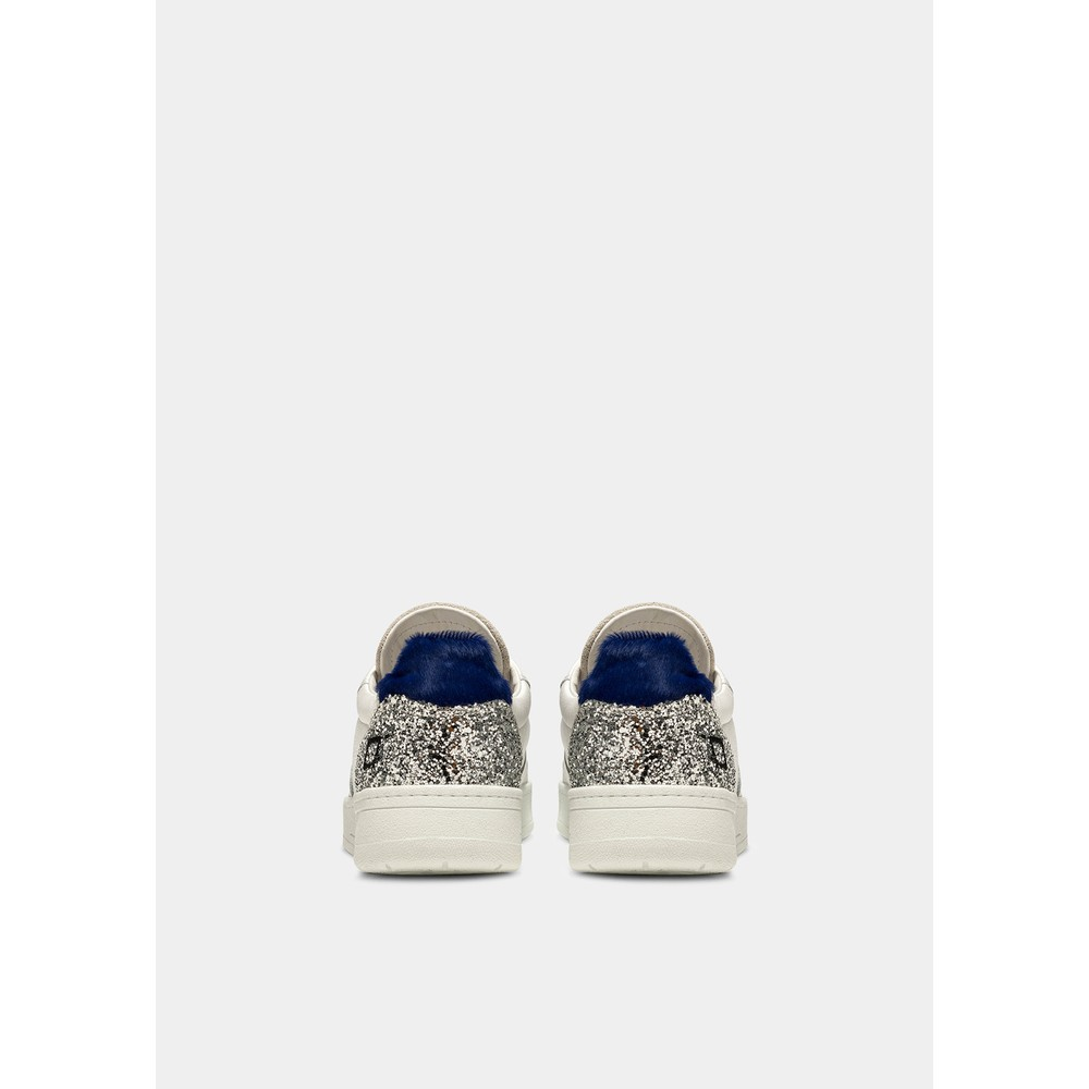 Date Court Leather Trainers in Bluette Blue
