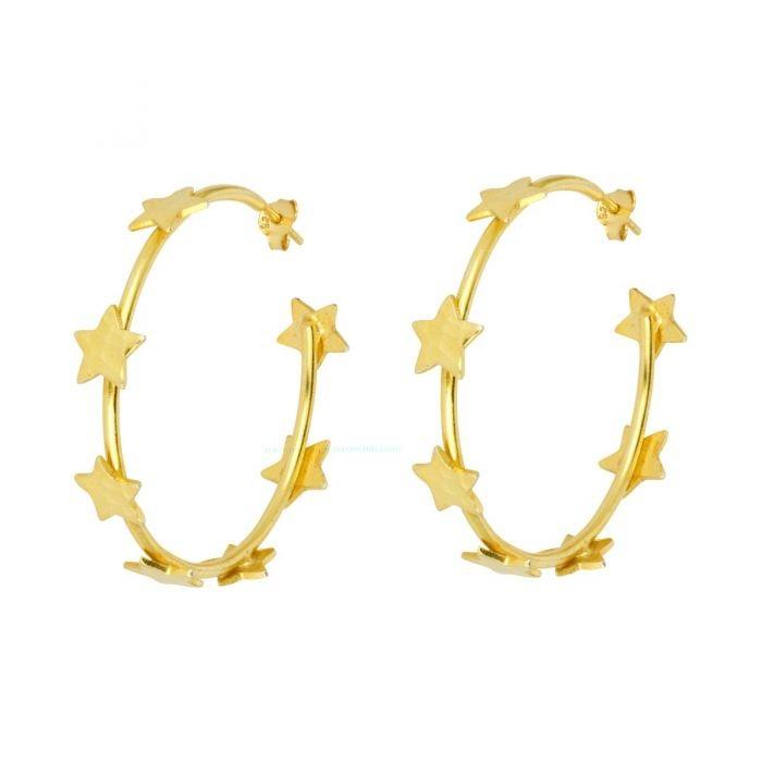Ashiana Lourdes Star Earrings Gold