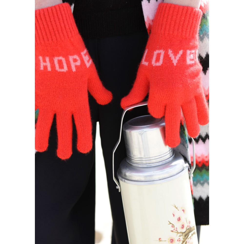 Quinton Chadwick Love Hope Gloves in Red Red
