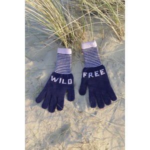 Quinton Chadwick Wild Free Gloves in Navy