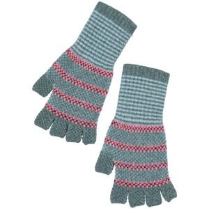 Quinton Chadwick Tuck St Fingerless Gloves in Navy/Orange in Pink