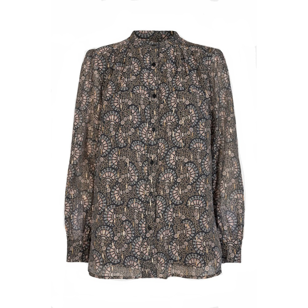 Sofie Schnoor Autumn Printed Shell Blouse Black