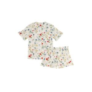 Yolke Thebe Cotton Pyjama Set in Meadow Flowers