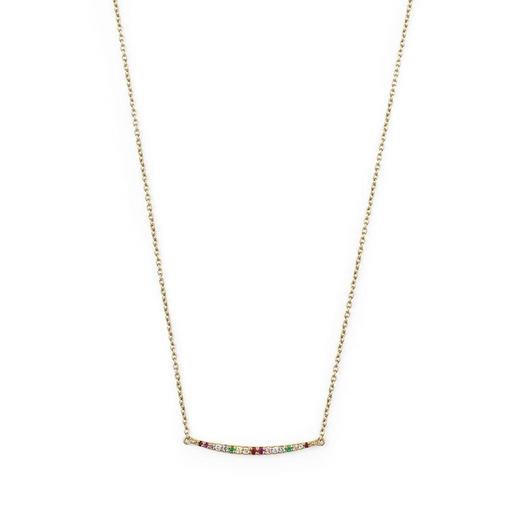 Rosie Fortescue Jewellery Rainbow Curve Necklace