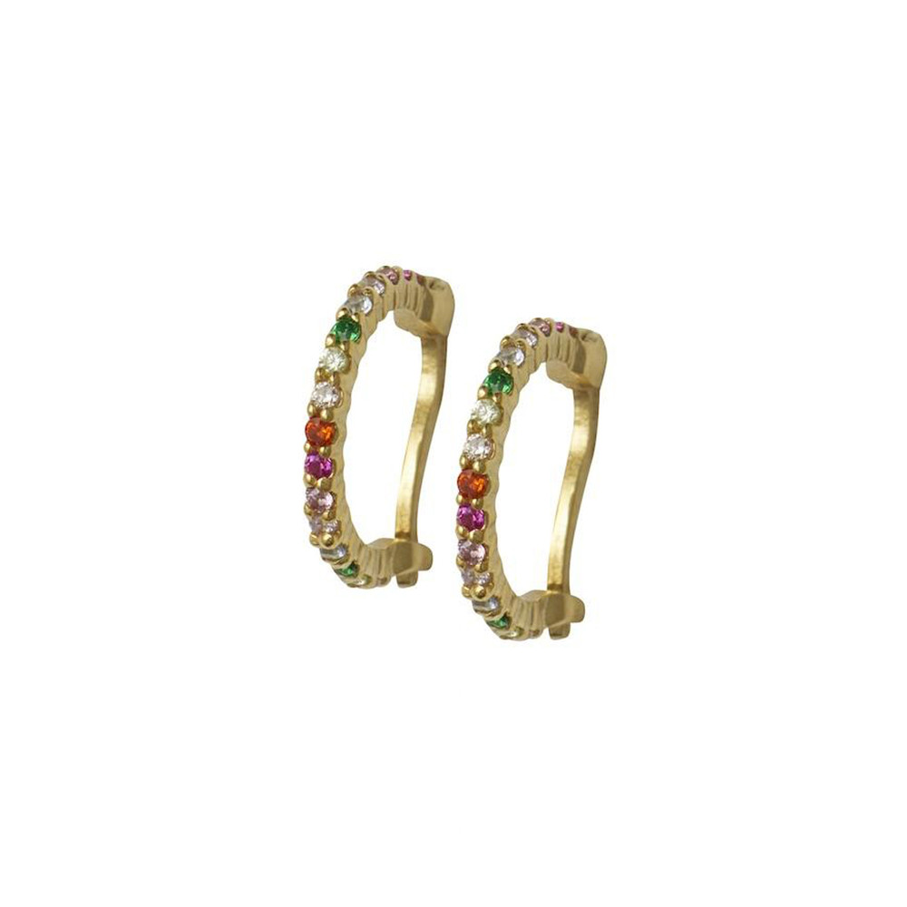 Rosie Fortescue Jewellery Rainbow Huggy Hoops