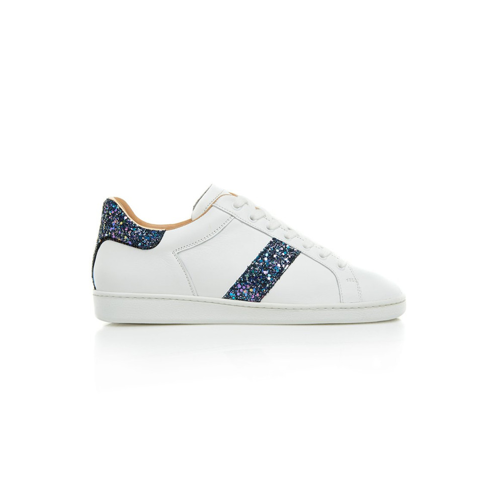 Air & Grace Copeland Trainers with Navy Glitter White