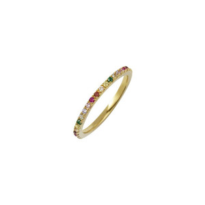 Rosie Fortescue Jewellery Gold Rainbow Stacking Ring
